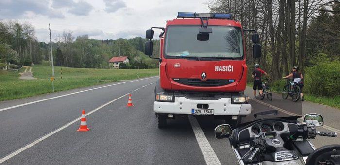 Dopravní nehoda – Osobního automobilu s motorkou